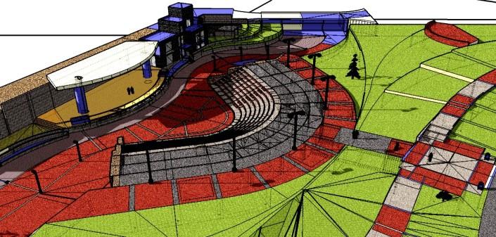 Anfiteatro de la Ciudad en 3d 1