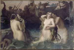 Las Sirenas hipnotizaban a los hombres con sus cantos y los hacían naufragar para después comérselos.