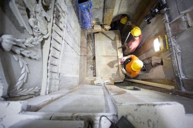 Los arqueólogos y científicos trabajaron 60 horas initerrumpidas.
